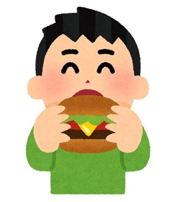 syokuji_hamburger_boy